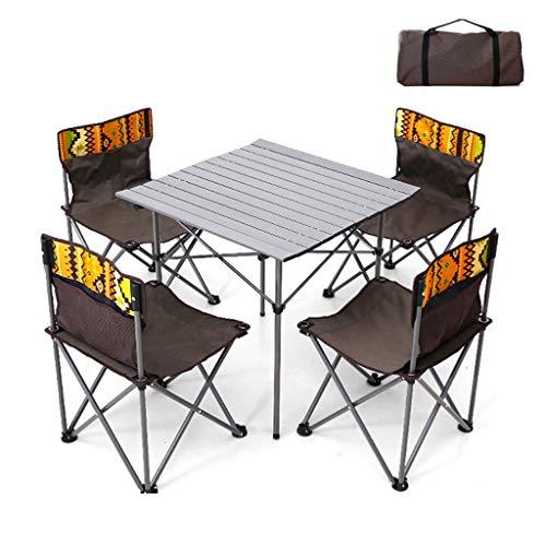 Portable Folding Lijst en stoelen die, 600D Oxford doek + aluminium legering materiaal dat geschikt is voor Outdoor Tuin Camping Vissen Outing BBQ,A