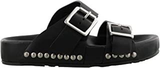 ALEXANDER MCQUEEN Luxury Fashion Mens 506771WHRV01000 Black Sandals | Season Outlet