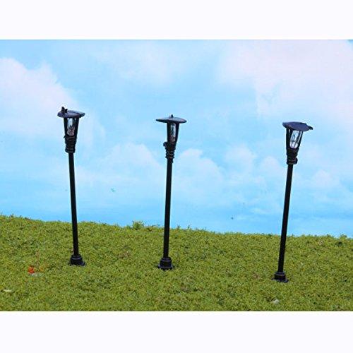 10 modèles en plastique modèle Lampadaire Lumière N calibre Echelle 1 : 150 cour Decor