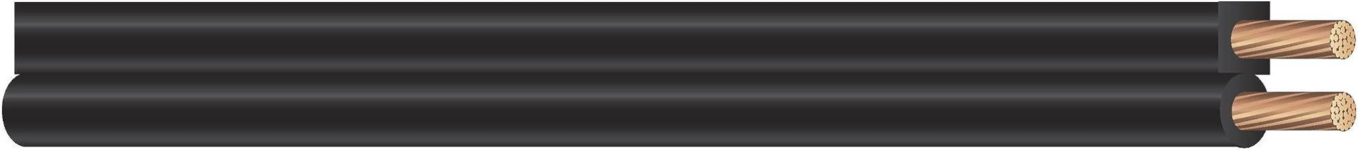 Coleman Cable 600006608 18/2 SPT-1 Bulk Lamp Cord, 300-Volt 18-Gauge, 250-feet Spool, Black