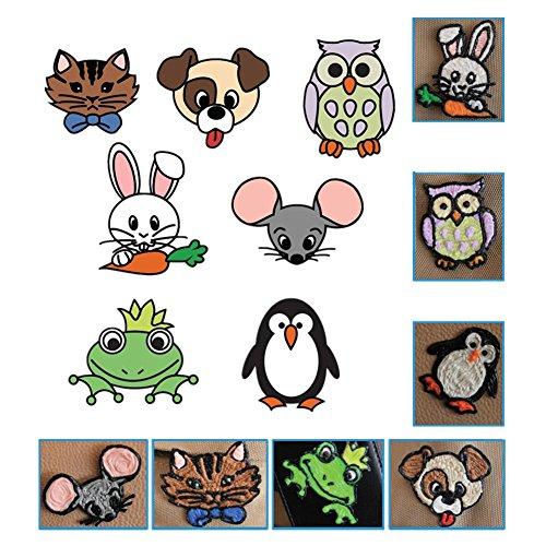 20 Stücke 3D Drucker Zeichnung Papier, Zeichnung Vorlage Papier Formen für 3D Druck Stift mit 40 Cartoon Muster Kinder DIY Geschenk - 9