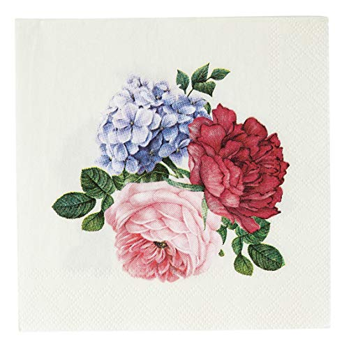 Talking Tables 20 Stück Papierservietten, 25 cm, 3-lagig, für Nachmittagstee, Party, Geburtstag, Hochzeit, Babyparty, Vintage-Blumen-Servietten
