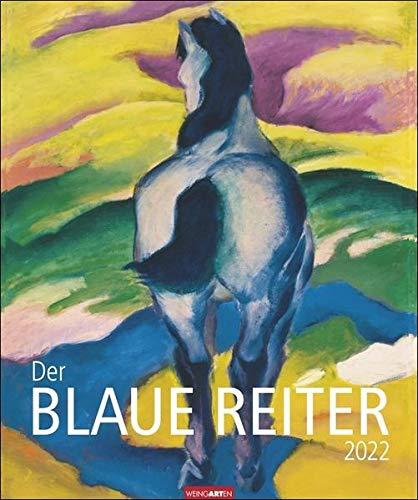 Der Blaue Reiter Kalender 2022 - Kunstkalender mit internationalem Monatskalendarium - Werke von berühmten Künstlern - 12 Kunstwerke - 46 x 55 cm