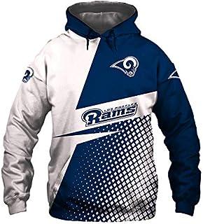 Li Largo impresión Digital 3D, Jersey, NFL, Europa y América más tamaño Ropa suéter con Capucha de los Hombres (Color : 1, Size : L)