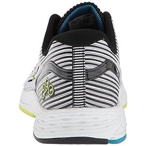 New Balance Men's 890 V6 Running Shoe, White/Black, 7.5 D US