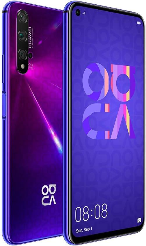 هاتف هواوي نوفا 5 تي ثنائي شريحة الاتصال بذاكرة داخلية 128 جيجا وذاكرة رام 8 جيجا بتقنية الجيل الرابع ال تي اي