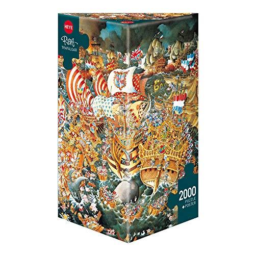 HEYE 29795 - Trafalgar Triangular, Michael Ryba, inklusiv Poster, 2000 Teile Puzzle