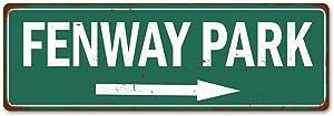 Fenway Park Sign Baseball Decoration Vintage Ballpark Decor Tin Signs Wall Art Plaque Sports Gift 6 x 18 High Gloss Metal 206180073001