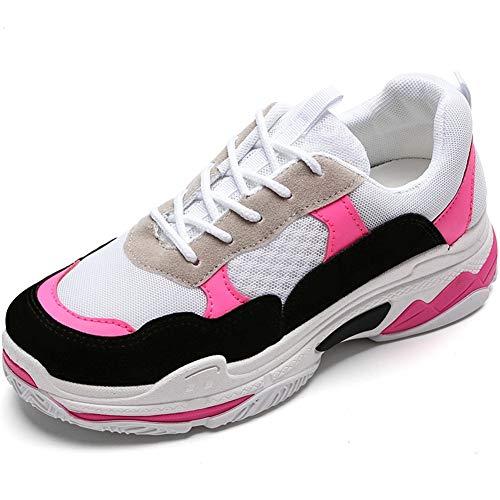 Vrouwen Sneakers Hoge Hak Dikke Bodem Hardlopen Casual Schoenen Stijlvolle Lace-Up Athletic Gym Wandelen Joggen Outdoor Vulcanized Trainers