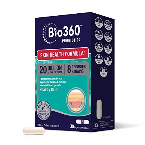 Bio360 Probiotics | Skin Health Formula | Daily Vegan Probiotic with...