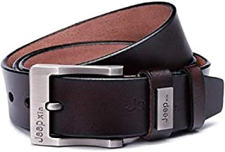 Jeep Brown Leather Belt For Men