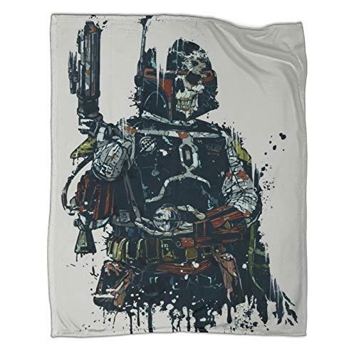 Coperta per bambini Star Wars Boba Fett Mandalorian coperta per divano letto sedia 180 x 230 cm