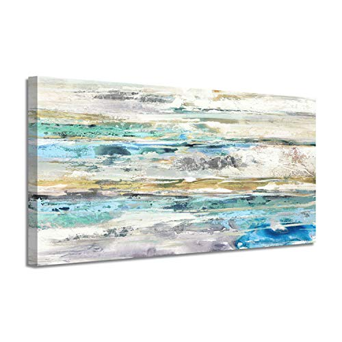 Abstract Picture Canvas Wall Art: Silver Foil Artwork Painting Print for Living Rooms (40'x 20'x1 Panel)