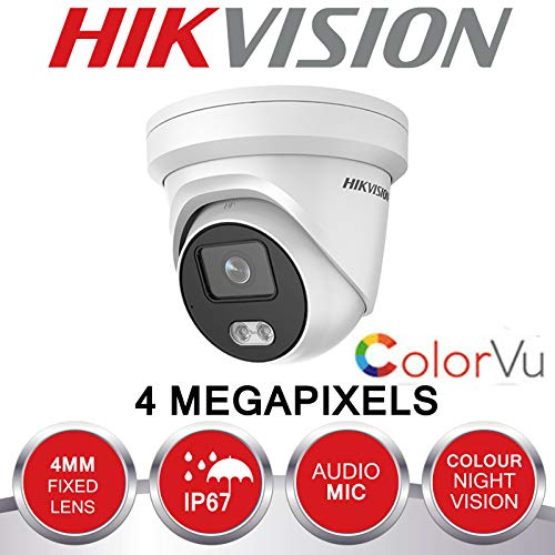 4 MP IP POE CCTV DOME CAMERA HD 4 MM OUTDOOR MIC COLOUR AT NIGHT COLORVU DS-2CD2347G1-LU