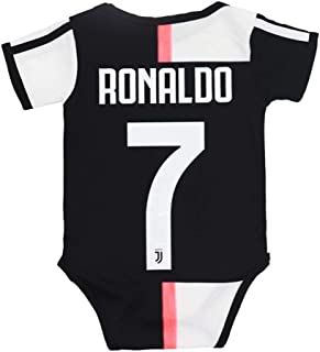 F.C Juventus JUVE Bodysuit Home #7 Ronaldo Baby Suit Soccer for Romper Infant & Toddler Two Size
