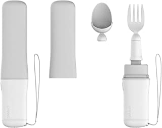 GYENNO Bravo Twist Parkinson Spoon and Fork for Hand Tremor, Steady Spoon with Self Stabilizing Smart Lift Kit for Parkinsons Patients