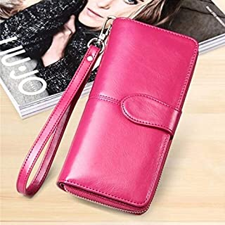 Yellow Wallet Women Top Quality Leather Wallet Multifunction Female Purse Long Big Capacity Card Holders Purse Vallet