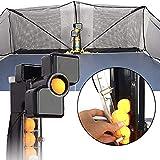 HAIJIN Ping Pong Robot Machine con Catch Net, Multi-rotación/Multi-Drop Point Entrenador automático de Tenis de Mesa Adecuado para Tenis de Mesa de 40 y 40+ (mm) Table Tennis Robots Ball Machine