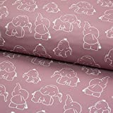 Stoff Softshell elastisch - Baby Elefant Töröö - 50cm x