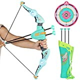Kidoloop Archery Bow And Arrow Set Kids Children Garden indoor Outdoor Summer Target Games with LED Light