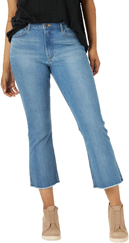 Wrangler Women's Kick Flare High Rise Crop Jean