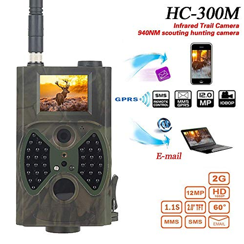 QYHT HC-300M Wildkamera, Trail-Kamera Jagdkamera Fotofalle 12MP 1080P HD Beutekameras Outdoor Sports Kamera 120° Weitwinkel IR Nachtsicht IP65 Wasserdicht mit 36 LEDs, Triggerzeit 0.8s
