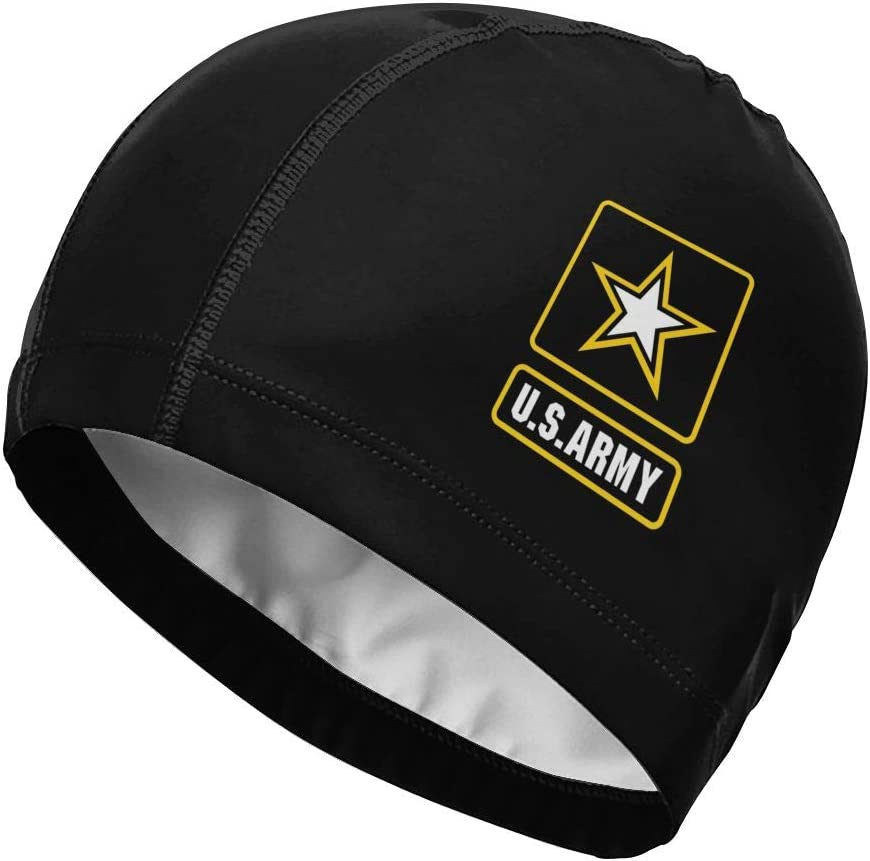 Helidoud US Army Star Flag Swim Cap PU 4 years warranty Ranking TOP20 Men W for Adult with Coat