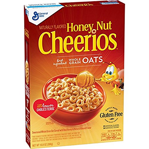 Honey Nut Cheerios 10.8 Oz, Gluten Free, Breakfast Cereal (pack of 2)