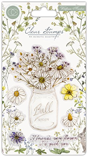 Craft Consortium A5 Clear Stamps-Wildflower Meadow - Fresh Cut