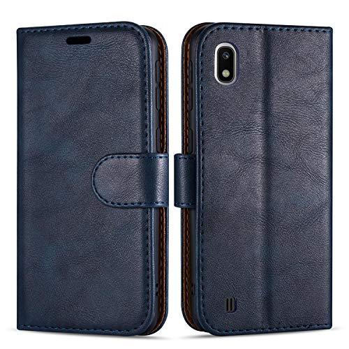 Case Collection Hochwertige Leder hülle für Samsung Galaxy A10 Hülle (6,2