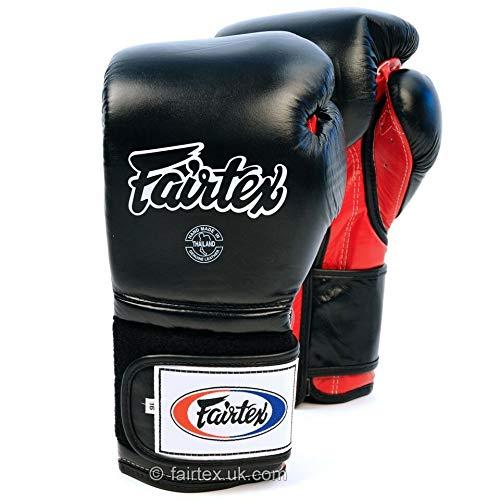 Fairtex BGV9Mexicano Guantes de Boxeo Negro, Color Negro, tamaño 45,5 cl