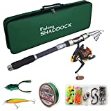 Telescoping Fishing Rods and Reels Combo - Travel Fishing Poles with Spinning Reels Fishing Gear...
