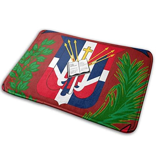 Sheho Felpudo Antideslizante Bandera de República Dominicana_1 Alfombrilla de Puerta Alfombrillas de Bienvenida Alfombra Felpudo de Entrada de Suelo para Interior/Exterior