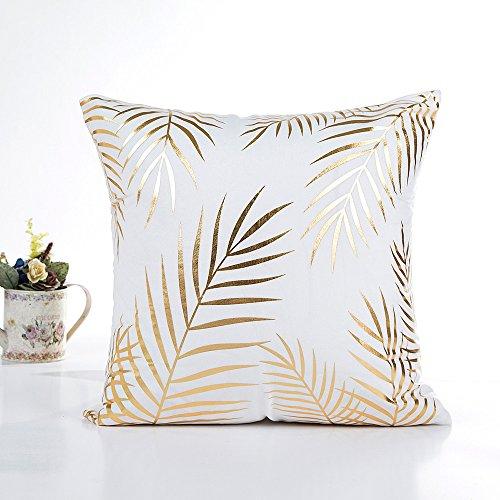 Fossrn Funda Cojines 45x45 Papel de oro Impresión Moderno Cuadrado Fundas de Almohada Decorativo Sofa Baratos (03)