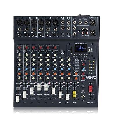 Studiomaster CLUB XS 10 Channel Mixer Desk USB SD Recorder Bluetooth Playback DJ