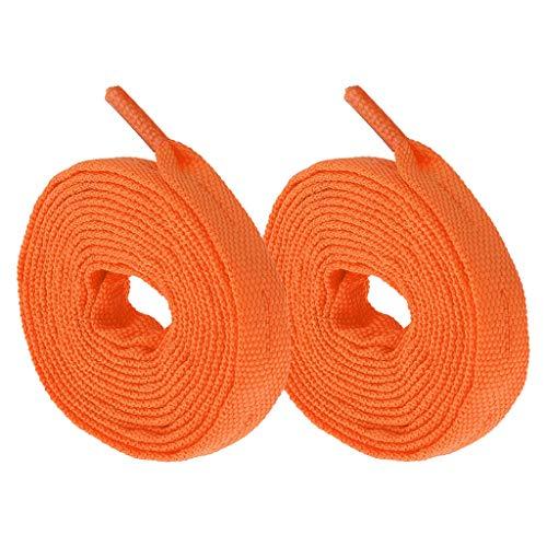 CUTICATE 1 Par De Patines De Ruedas Cuerdas De Cordones Accesorios para Hockey Y Patines De Hielo - Naranja