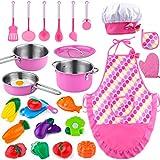GiftInTheBox - Juego de cocina para niños, juego de cocina con tarros y cacerolas, regalo para niños y niñas