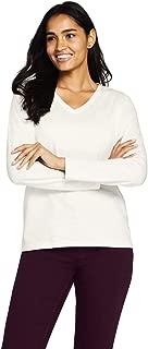Women's Relaxed Supima Cotton Long Sleeve V-Neck T-Shirt