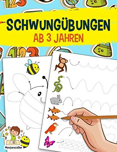 Schwungübungen ab 3 Jahren: Das große Übungsheft zur Förderung der Feinmotorik, Konzentration und Hand-Augen-Koordination - Für den Kindergarten und Vorschule zur Vorbereitung auf das Schreiben Lernen