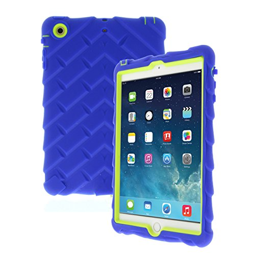 Gumdrop Droptech Cases Designed for The Apple iPad Mini 3, 2, 1, (2014, 2013, 2012) Tablet for K-12 Students, Teachers, Kids - Royal Blue/Lime, Rugged, Shock Absorbing, Extreme Drop Protection
