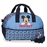 Disney Mickey Moods Borsa da viaggio Rosso 24x40x18 cms Poliestere 17.28L