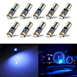 KISLED Extremely Bright 3030 Chipsets Wedge T5 74 73 37 Bulb Lamp Replacement for Car Interior Footwell Glove Box Instrument Indicator Panel Lights, Ice Blue