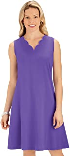 Classic Solid Color Scalloped Neckline A Line Knit Dress - Cute Summer Outfit for Any Occasion