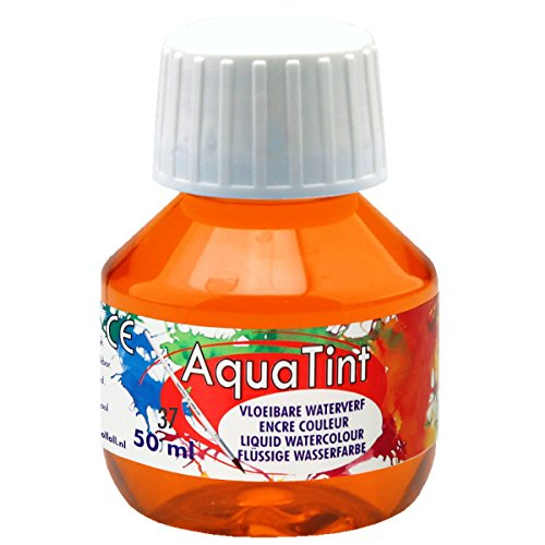 Encre aquarelle à dessiner - AquaTint Peinture à l'eau liquide Orange 50ml