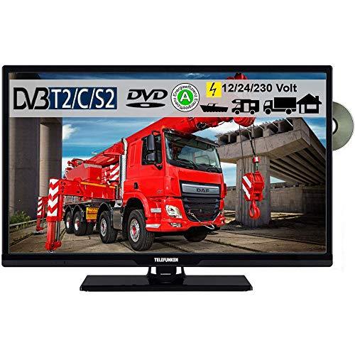 """Telefunken T24X740 MOBIL DVD TV 24\"""" Zoll, DVB/S/S2/T2/C USB 12V 24 Volt 230 Volt inkl. Spannungswandler"""