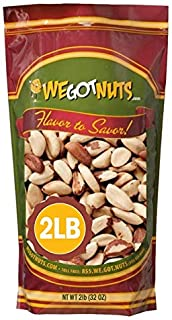 Brazil Nuts - 2 Pounds ,Whole, Shelled, Raw, Natural, No Preservatives Added, Non-GMO, NO PPO, 100 Percent Natural We Got ...
