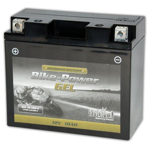 Intact Motorrad Batterie Gel 12 V 10 AH (GT12B-4 / 51299) passend für: LI-12-12B-4 - YT12BBS - 51001 - 51015 - CT12L-B - 512901019 - YT12B-4 - YT12B-BS - 0092M60190 - M6019 - 00972512P1 - F12-12B,WP12B-4 - KT12B-4 - 51299 - 51201 - CT12B-4