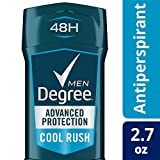 Degree Men Adrenaline Series Antiperspirant & Deodorant Cool Rush, 2.7 oz, 12 count