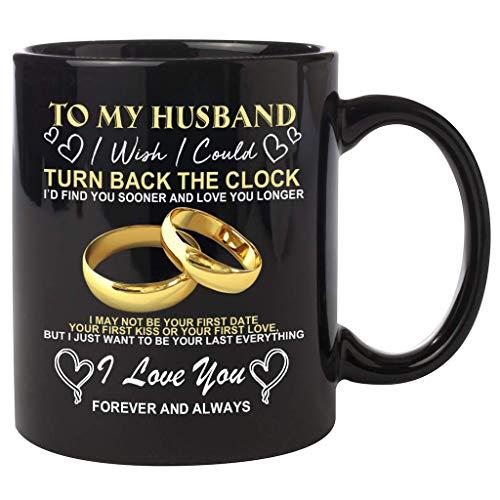ZJL220 Taza de café de cerámica Mug a mia Moglie/Marito para San Valentín, aniversario de boda, cumpleaños, día del padre o Navidad