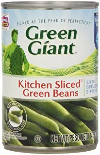 Green Giant Kitchen Sliced Green Beans, 14.5-Ounce (Pack of 8)